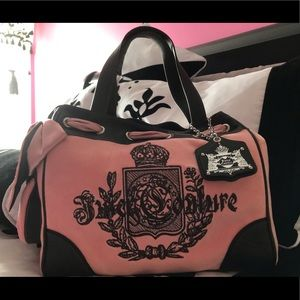 NEVER USED JUICY COUTURE PINK & BROWN BAG